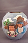 Click here to enlarge image and see more about item BG00173: Indian Figure  Pottery Vase