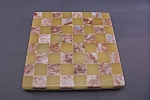 Click here to enlarge image and see more about item BG00212: Unique Marble Inlay Checkerboard Tile
