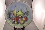 Click here to enlarge image and see more about item BG00240: Occupied Japan Still Life Handpainted Collector Plate