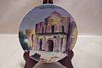 Click here to enlarge image and see more about item BG00279: Occupied Japan Hand-Painted The Alamo Plate