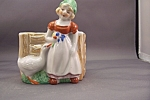 Click here to enlarge image and see more about item BG00300: Occupied Japan Dutch Girl Cache Pot/Planter
