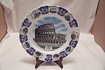 Click here to enlarge image and see more about item BG00332: Italian Roma-Il Colosseo Collector Plate