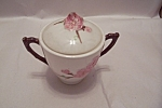 Click here to enlarge image and see more about item BG00353: Poppy Trail Peach Blossom Pattern Sugar Bowl With Lid