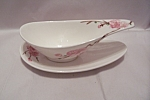 Click here to enlarge image and see more about item BG00355: Poppy Trail Peach Blossom Pattern Gravy Boat