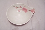 Click here to enlarge image and see more about item BG00358: Poppy Trail Peach Blossom Pattern Spoon Holder
