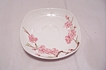 Click here to enlarge image and see more about item BG00359: Poppy Trail Peach Blossom Pattern Saucer