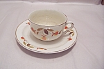 Click here to enlarge image and see more about item BG00369: Hall Autumn Leaf Pattern Cup & Saucer Set