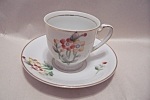 Occupied Japan Three Leaves Demitasse Cup & Saucer