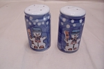Click here to enlarge image and see more about item BG00384: Snowman Salt & Pepper Shaker Set