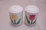 Click here to enlarge image and see more about item BG00386: Otagiri Tulip Salt & Pepper Shaker Set