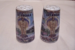 Click here to enlarge image and see more about item BG00389: Souvenir Oklahoma Salt & Pepper Shaker Set