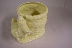 Click here to enlarge image and see more about item BG00428: Occupied Japan Yellow Duck Cache Pot