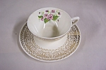 Click here to enlarge image and see more about item BG00453: Vintage Floral Pattern Cup & Saucer