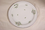 Click here to enlarge image and see more about item BG00458: Kruthiem Silver Thistle Dinner Plate