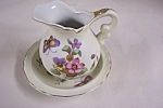 Click here to enlarge image and see more about item BG00467: Lefton Miniature Pitcher & Bowl Set