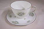 Click here to enlarge image and see more about item BG00468: Krutheim Silver Thistle Cup & Saucer Set