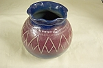 Click here to enlarge image and see more about item BG00478: Artist Handmade Art Pottery Bulbous Vase
