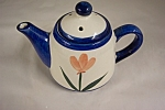Click here to enlarge image and see more about item BG00481: Small Handpainted Teapot