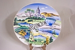 Click here to enlarge image and see more about item BG00508: Occupied Japan Handpainted Washington Collector Plate