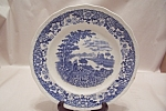 Click here to enlarge image and see more about item BG00631: Flow Blue Silverdale Collector Plate