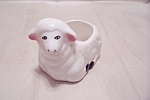 Click here to enlarge image and see more about item BG00653: White Porcelain Lamb Planter