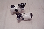 Click here to enlarge image and see more about item BG00654: Holstein Cow Salt & Pepper Shakers