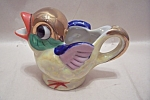Click here to enlarge image and see more about item BG00663: Occupied Japan Handpainted Bird Cream Pitcher