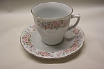 Click here to enlarge image and see more about item CDCS001: Floral Design Collectible Cup & Saucer