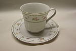 Click here to enlarge image and see more about item CDCS006: Abingdon Fine Porcelain Cup And Saucer