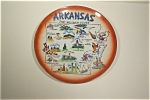 Click here to enlarge image and see more about item CP006: Arkansas The Wonder State Collector Plate