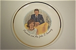 Click here to enlarge image and see more about item CP017: President and Mrs. John F. Kennedy Collector Plate
