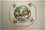 Click here to enlarge image and see more about item CP018: Currier & Ives The Farmer's Home  Collector Plate