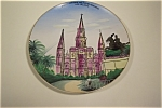Click here to enlarge image and see more about item CP019: St. Louis Cathedral and Jackson Monument Plate