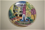 Click here to enlarge image and see more about item CP025: Two Sisters Courtyard, New Orleans Collector Plate