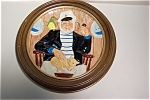 """Click here to enlarge image and see more about item CP032: Toby """"Jack Tar"""" Collector Plate with Holder"""