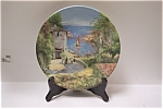 Click here to enlarge image and see more about item CP051: Scene dun port en Provence Collector Plate
