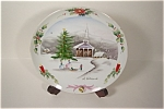 Click here to enlarge image and see more about item CP088: Handpainted Christmas Collector Plate
