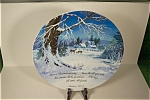 Click here to enlarge image and see more about item CP105: 1973 Christmas Collector Plate
