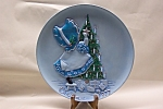 Click here to enlarge image and see more about item CP140: 1977 3-Dimensional Christmas Collector Plate
