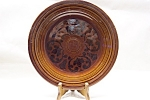 Click here to enlarge image and see more about item CP155: Sheffield Amberstone Collector Plate
