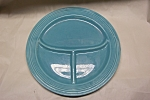"Click to view larger image of FIESTA  10-1/2"" Turquoise Compartmented Plate (Image1)"