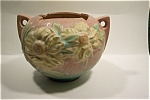 Click here to enlarge image and see more about item ROSE001: Roseville Peony Bowl #4276
