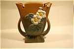 """Nice ROSEVILLE White Rose pottery vase produced in 1940.  #987-9.  Signed on the bottom.   7-1/4"""" tall.  Fine condition and looks like new with no chips or cracks.  See on Page 133 of Sharon and ..."""