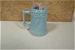 Click here to enlarge image and see more about item TPH0025: Pottery Mug Shaped Toothpick Holder