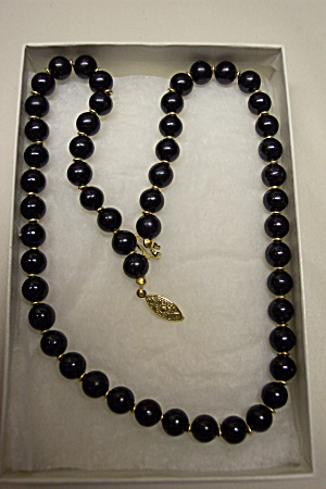 Black Bead Necklace 20 inches (Image1)