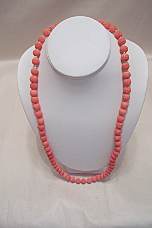 Pink Coral Bead Necklace (Image1)