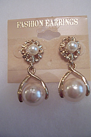 Fashionable Faux Pearl Earrings