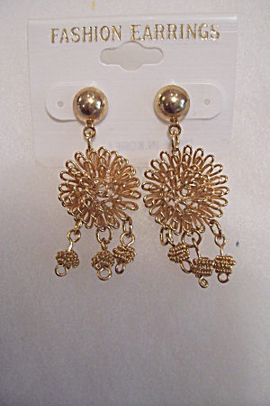 Fashionable Gold Drop Earrings (Image1)