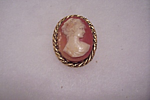 Vintage Raised Cameo Brooch