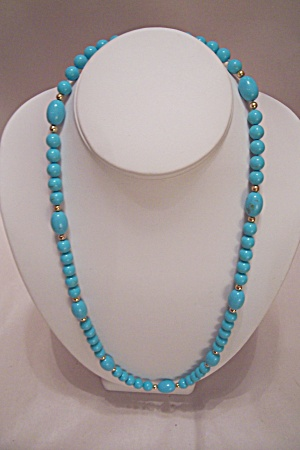 Turquoise Blue Bead Necklace (Image1)